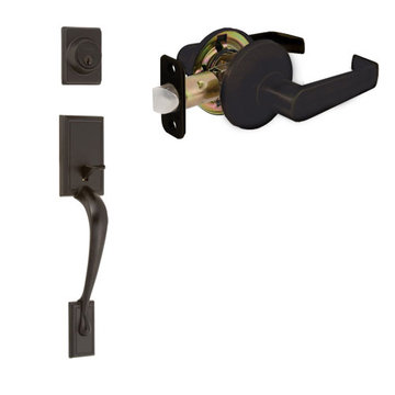 Delaney Ezset Kellington Residential Double Cylinder Thumblatch To Escort Lever Entry Set