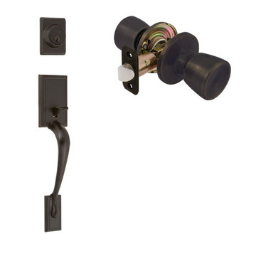 Delaney Ezset Kellington Residential Double Cylinder Thumblatch To Guardian Knob Entry Set