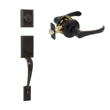 Delaney Ezset Kellington Residential Double Cylinder Thumblatch To Palmer Lever Entry Set