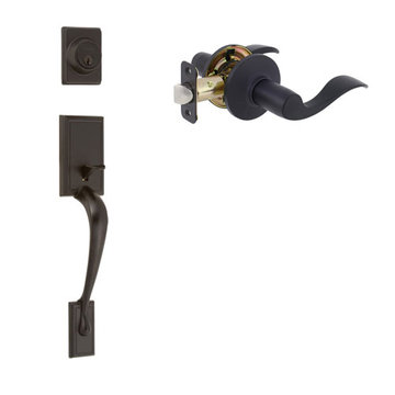 Delaney Ezset Kellington Residential Double Cylinder Thumblatch To Shelby Lever Entry Set