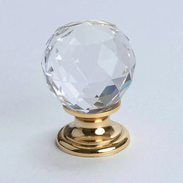 Berenson Europa Round Faceted Crystal Knob