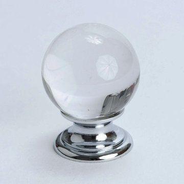 Berenson Europa Round White Ceramic Cabinet Knob