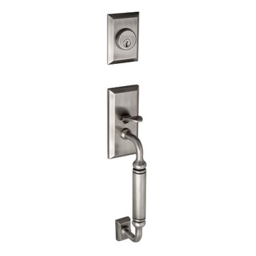 Grandeur Fifth Avenue C-Grip Double Cylinder Exterior Handle Only - Keyed Alike