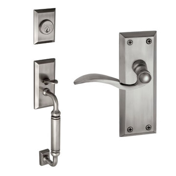 Grandeur Fifth Avenue C-Grip Thumblatch To Bellagio Lever Entry Set