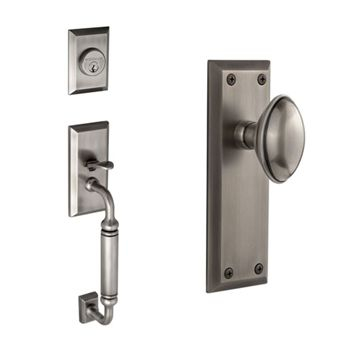 Grandeur Fifth Avenue C-Grip Thumblatch To Eden Prairie Knob Entry Set