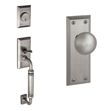 Grandeur Fifth Avenue C-Grip Thumblatch To Fifth Avenue Knob Entry Set