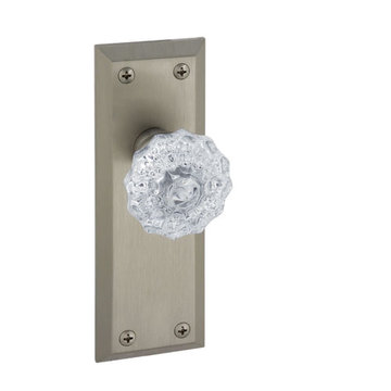 Grandeur Fifth Avenue Double Dummy Interior Door Set With Crystal Fontainebleau Knob