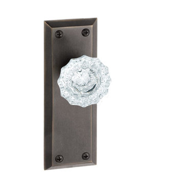 Grandeur Fifth Avenue Double Dummy Interior Door Set With Crystal Versailles Knob