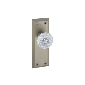 Grandeur Fifth Avenue Passage Interior Door Set With Crystal Fontainebleau Knob