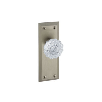 Grandeur Fifth Avenue Passage Interior Door Set With Crystal Versailles Knob
