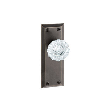 Grandeur Fifth Avenue Privacy Interior Door Set With Crystal Versailles Knob
