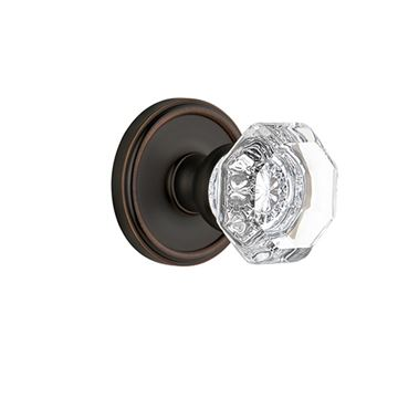 Grandeur Georgetown Double Dummy Chambord Crystal Door Set