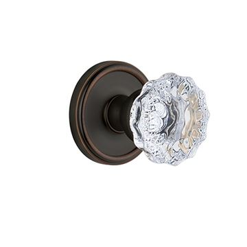 Grandeur Georgetown Passage Interior Door Set With Crystal Fontainebleau Knob