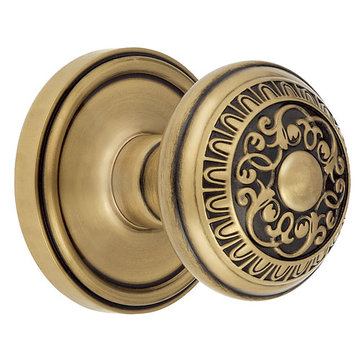 Grandeur Georgetown Passage Interior Door Set with Windsor Knob