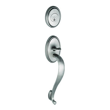 Grandeur Georgetown S-Grip Thumblatch To Fifth Avenue Knob Entry Set