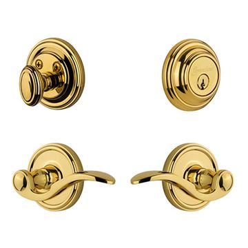 Grandeur Georgetown Single Cylinder Entry Set With Bellagio Lever - Keyed Differently