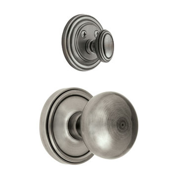 Grandeur Georgetown Single Dummy Interior Door Set With Fifth Avenue Knob