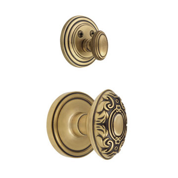 Grandeur Georgetown Single Dummy Interior Door Set With Grande Victorian Knob