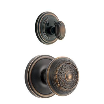 Grandeur Georgetown Single Dummy Interior Door Set With Windsor Knob