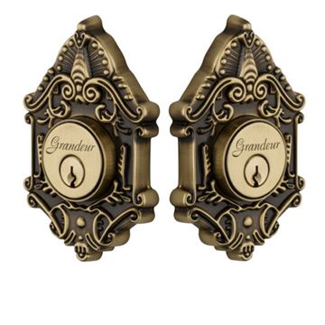 Grandeur Grande Victorian Double Cylinder Deadbolt - Keyed Differently