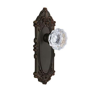 Grandeur Grande Victorian Double Dummy Interior Door Set With Crystal Fontainebleau Knob