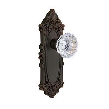 Grandeur Grande Victorian Double Dummy Fontainebleau Crystal Door Set