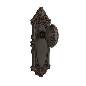 Grandeur Grande Victorian Double Dummy Interior Door Set With Grande Victorian Knob