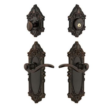 Grandeur Grande Victorian Entry Set with Bellagio Lever - Keyed Alike
