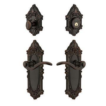 Grandeur Grande Victorian Entry Set with Bellagio Lever - Keyed Alike