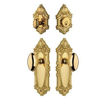 Grandeur Grande Victorian Entry Set - Eden Prairie Knob - Keyed Alike
