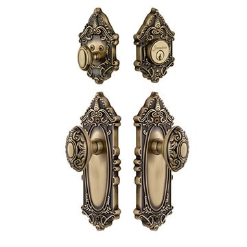 Grandeur Grande Victorian Entry Set With Grande Victorian Knob - Keyed Alike