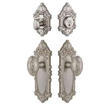 Grandeur Grande Victorian Entry Set With Grande Victorian Knob - Keyed Differently