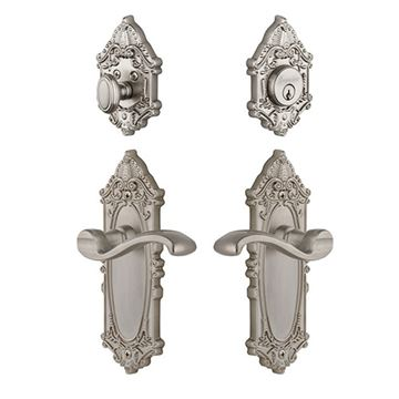 Grandeur Grande Victorian Entry Set With Portofino Lever - Keyed Alike