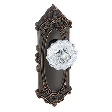 Grandeur Grande Victorian Passage Fontainebleau Crystal Door Set