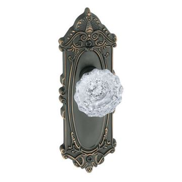 Grandeur Grande Victorian Passage Interior Door Set With Crystal Versailles Knob