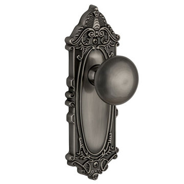 Grandeur Grande Victorian Passage Interior Door Set With Fifth Avenue Knob
