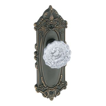 Grandeur Grande Victorian Privacy Interior Versailles Crystal Door Set