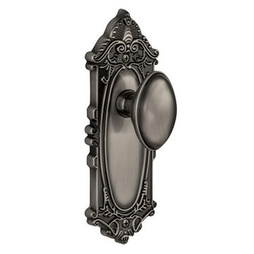Grandeur Grande Victorian Privacy Interior Door Set With Eden Prairie Knob
