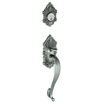 Grandeur Grande Victorian S-Grip Double Cylinder Exterior Handle Only - Keyed Differently