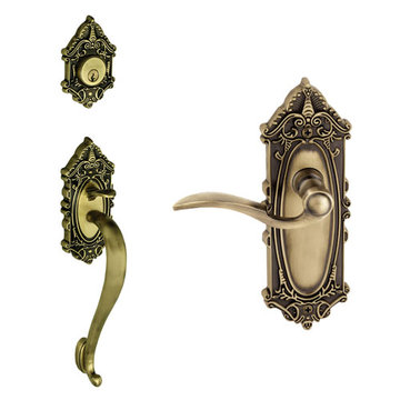 Grandeur Grande Victorian S-Grip Thumblatch - Bellagio Lever Entry Set