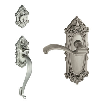 Grandeur Grande Victorian S-Grip Thumblatch To Portofino Lever Entry Set