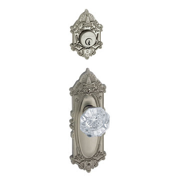 Grandeur Grande Victorian Single Cylinder Interior Half Only With Crystal Chambord Knob