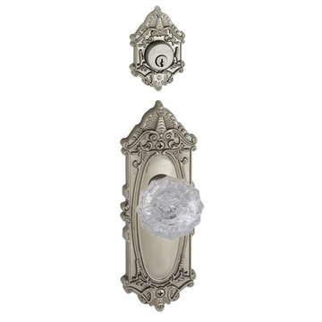 Grandeur Grande Victorian Single Cylinder Interior Half Only With Crystal Versailles Knob