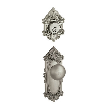 Grandeur Grande Victorian Single Cylinder Interior Half Only With Fifth Avenue Knob
