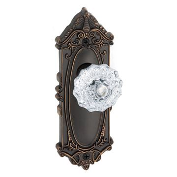 Grandeur Grande Victorian Single Dummy Interior Door Set With Crystal Fontainebleau Knob