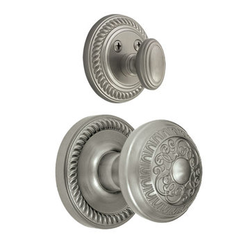Grandeur Newport Double Cylinder Interior Half Only With Windsor Knob
