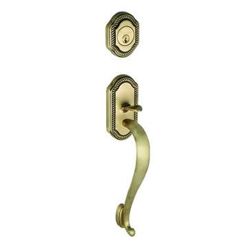 Grandeur Newport Double Cylinder S-Grip Exterior Handle Only - Keyed Alike