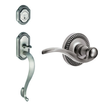 Grandeur Newport S-Grip Thumblatch to Bellagio Lever Entry Set