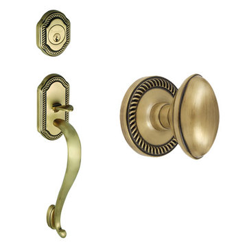 Grandeur Newport S-Grip Thumblatch To Eden Prairie Knob Entry Set