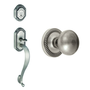 Grandeur Newport S-Grip Thumblatch To Fifth Avenue Knob Entry Set